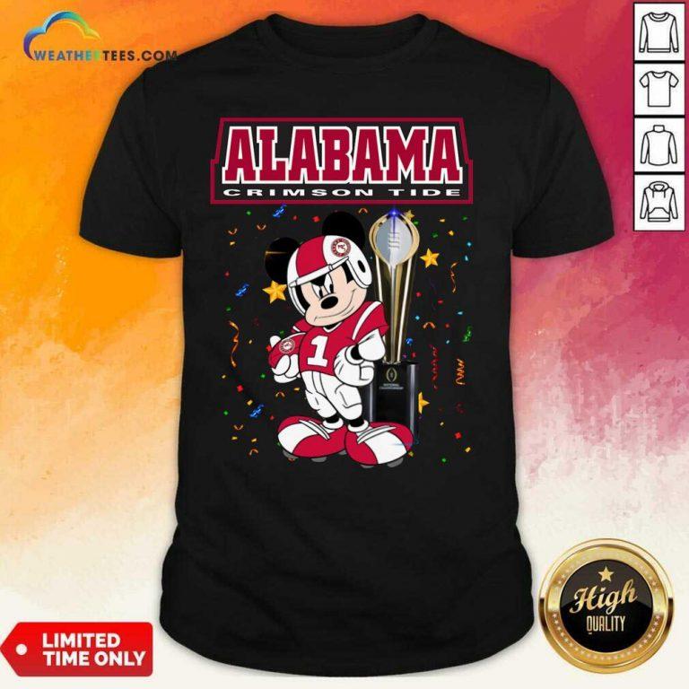 Alabama Crimson Tide Mickey Mouse Shirt - Design By Weathertees.com