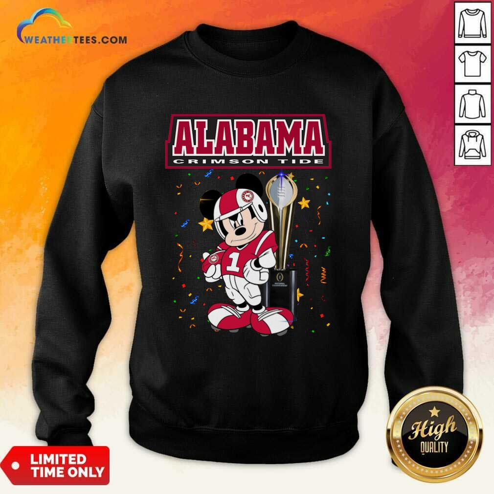 Alabama Crimson Tide Mickey Mouse Sweatshirt - Design By Weathertees.com
