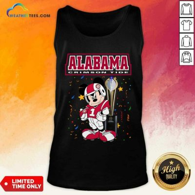 Alabama Crimson Tide Mickey Mouse Tank Top - Design By Weathertees.com