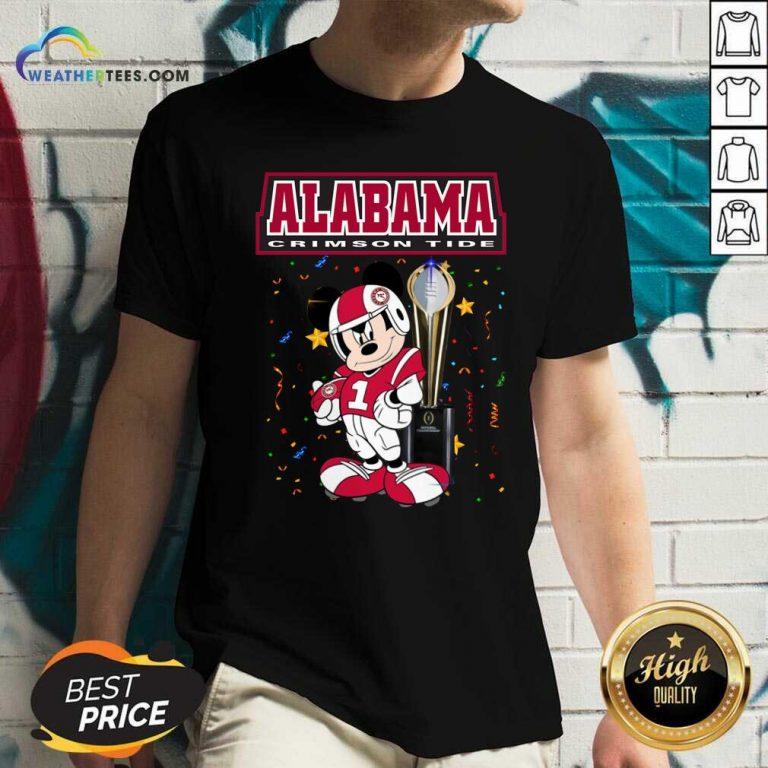 Alabama Crimson Tide Mickey Mouse V-neck - Design By Weathertees.com