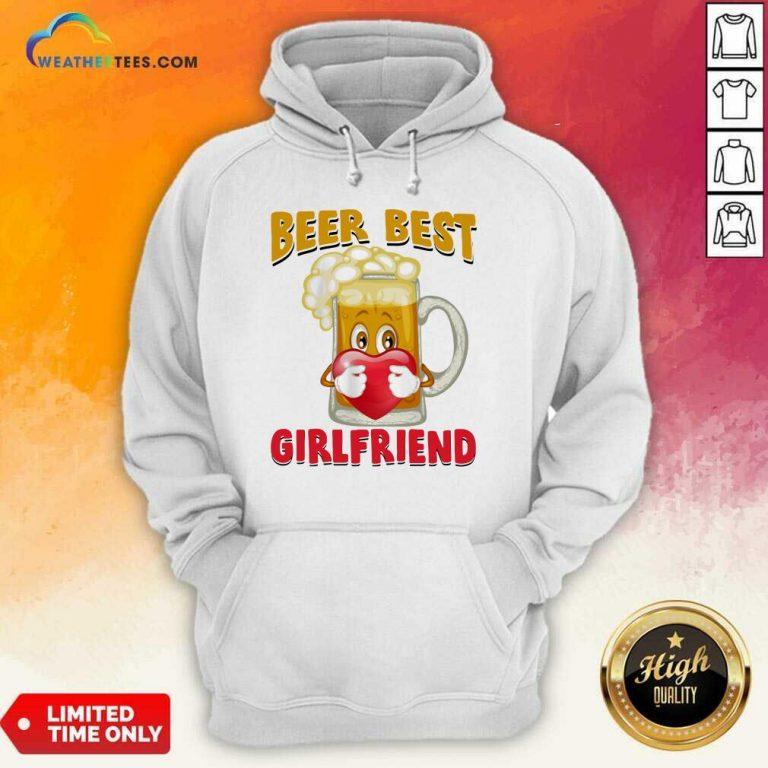 Beer Best Girlfriends Heart Hoodie - Design By Weathertees.com