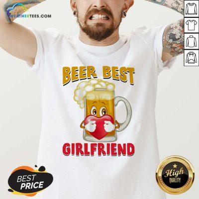 Beer Best Girlfriends Heart V-neck - Design By Weathertees.com