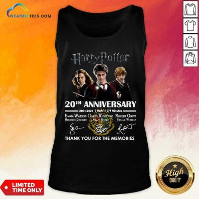 Harry Potter 20th Anniversary 2001 2021 7 Parts 1179 Minutes Thank You For The Memories Signatures Tank Top - Design By Weathertees.com