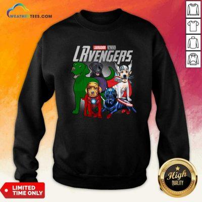 Labrador Retriever Marvel Avengers LRvengers Sweatshirt - Design By Weathertees.com