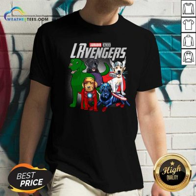 Labrador Retriever Marvel Avengers LRvengers V-neck - Design By Weathertees.com