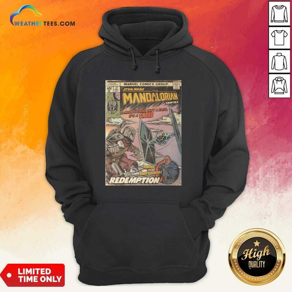Star Wars The Mandalorian Chapter 8 Mando Vs Moff Gideon Redemption Hoodie - Design By Weathertees.com