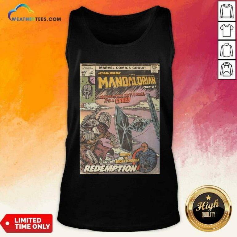 Star Wars The Mandalorian Chapter 8 Mando Vs Moff Gideon Redemption Tank Top - Design By Weathertees.com