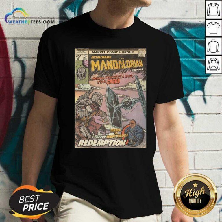 Star Wars The Mandalorian Chapter 8 Mando Vs Moff Gideon Redemption V-neck - Design By Weathertees.com