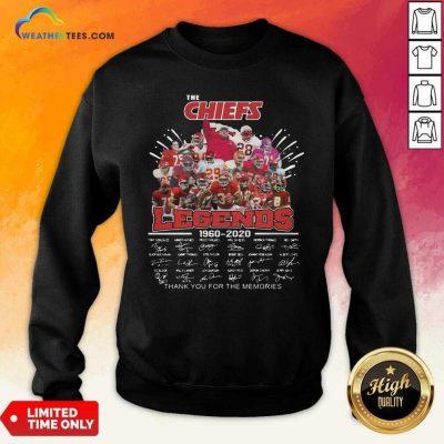 The Kansas City Chiefs Legends 1960 2020 Signatures Sweatshirt - Design By Weathertees.com