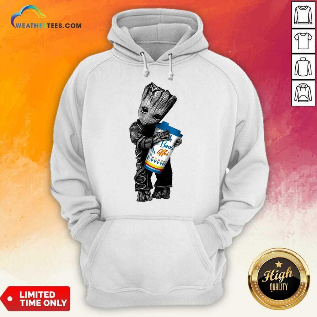 Amused Baby Groot Hugs Dutch Bros 11 Hoodie