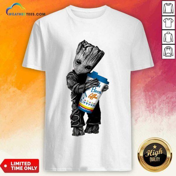 Amused Baby Groot Hugs Dutch Bros 11 Shirt