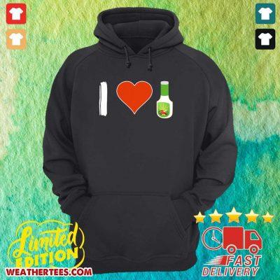 Amused I Love 1 Vegetarian Hoodie - Design by Weathertee.com
