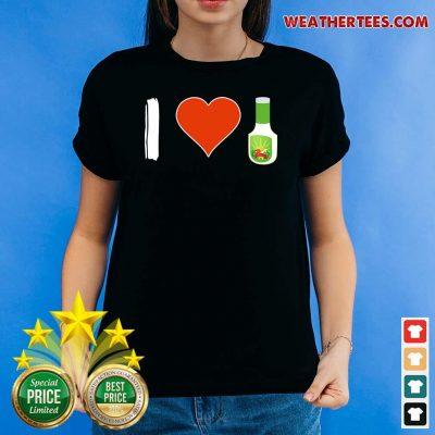 Amused I Love 1 Vegetarian Ladies-tee - Design by Weathertee.com