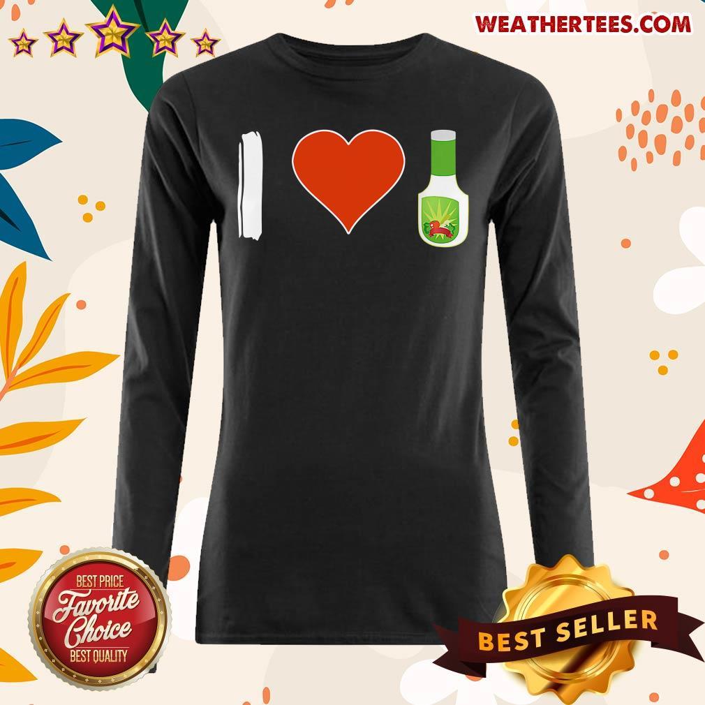 Amused I Love 1 Vegetarian Long-sleeved - Design by Weathertee.com