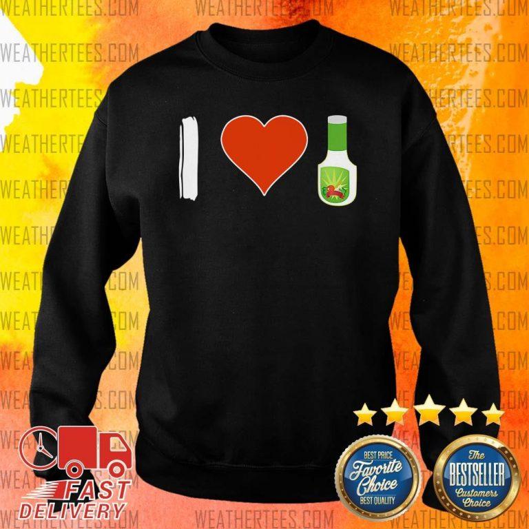 Amused I Love 1 Vegetarian Sweater - Design by Weathertee.com