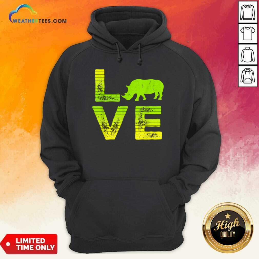 Awesome I Love Rhinos Boy And Girl 1 Hoodie