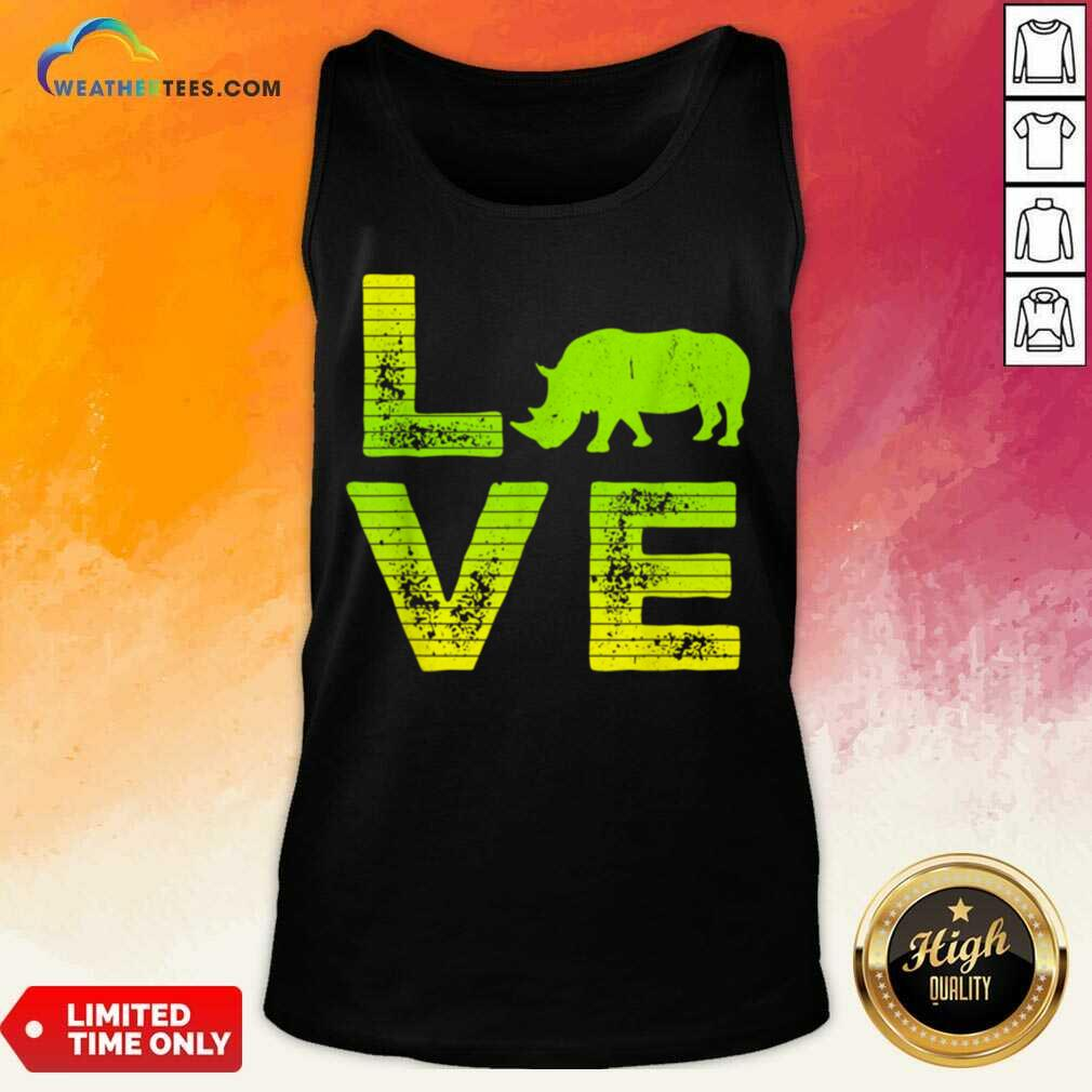 Awesome I Love Rhinos Boy And Girl 1 Tank Top