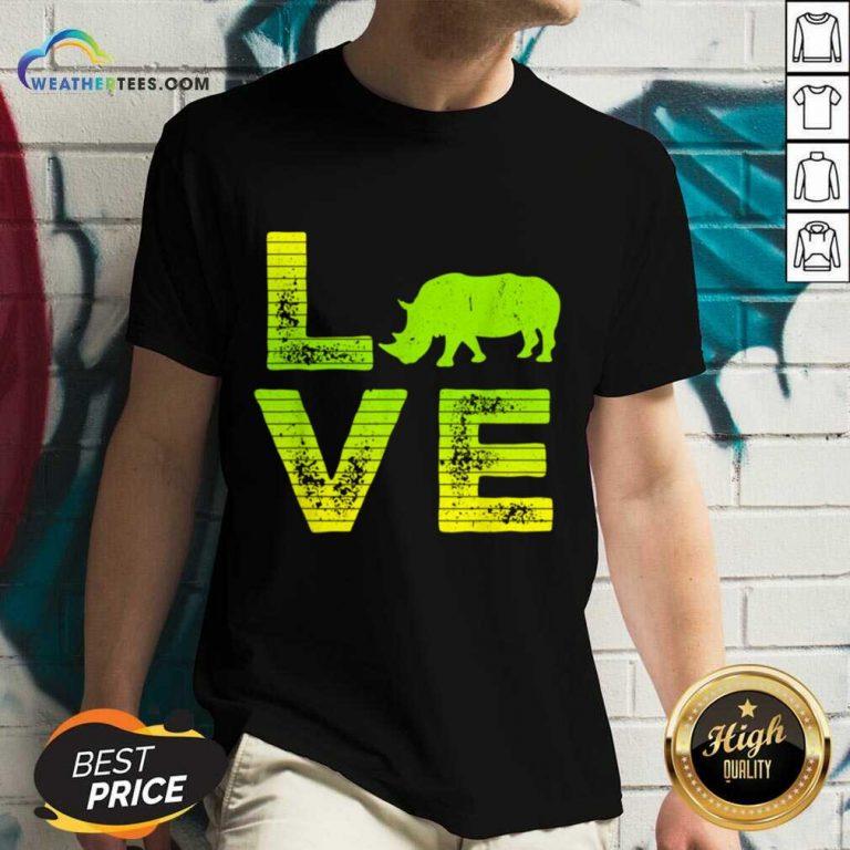 Awesome I Love Rhinos Boy And Girl 1 V-neck