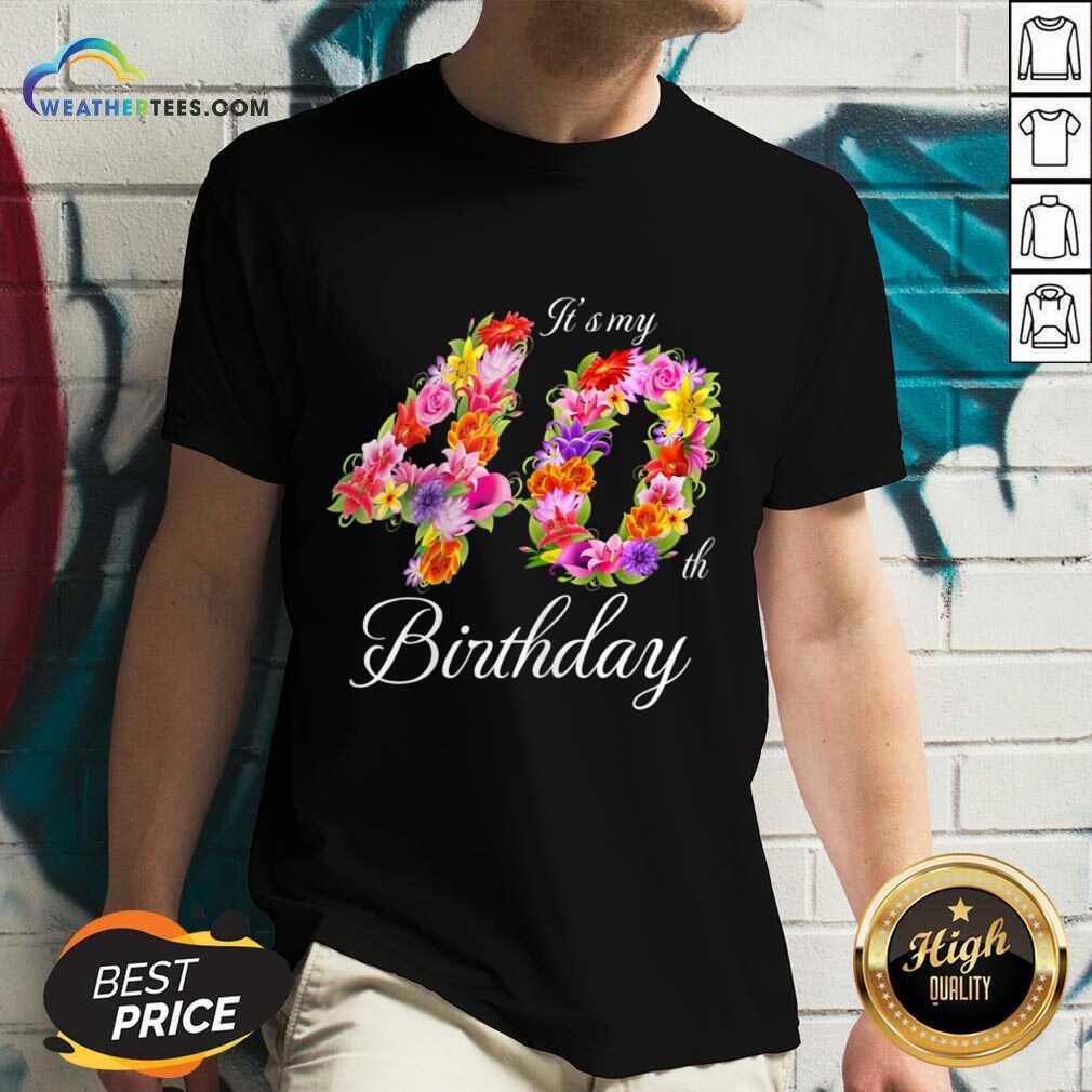Confident My 40th Birthday Women V-neck