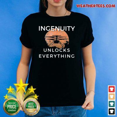 Cool 11 Ingenuity Unlocks Everything Ladies-tee - Design by Weathertee.com