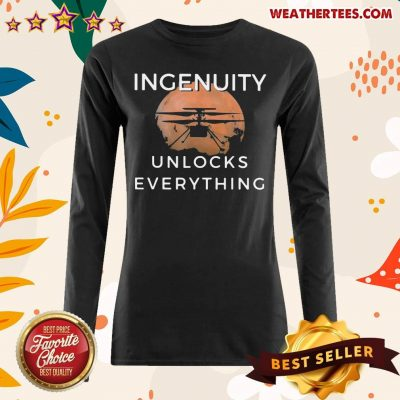 Cool 11 Ingenuity Unlocks Everything Long-sleeved - Design by Weathertee.com