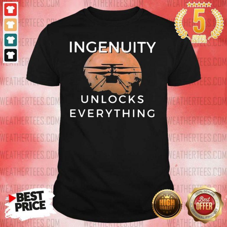 Cool 11 Ingenuity Unlocks Everything Shirt - Design by Weathertee.com
