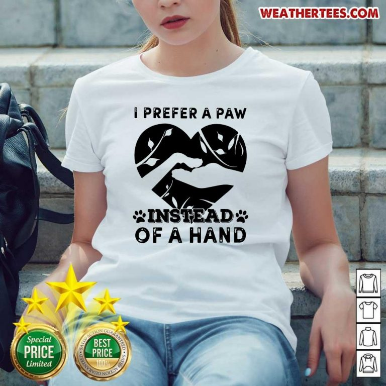 Cute 9 Paw Of A Hand Ladies-tee - Design by Weathertee.com