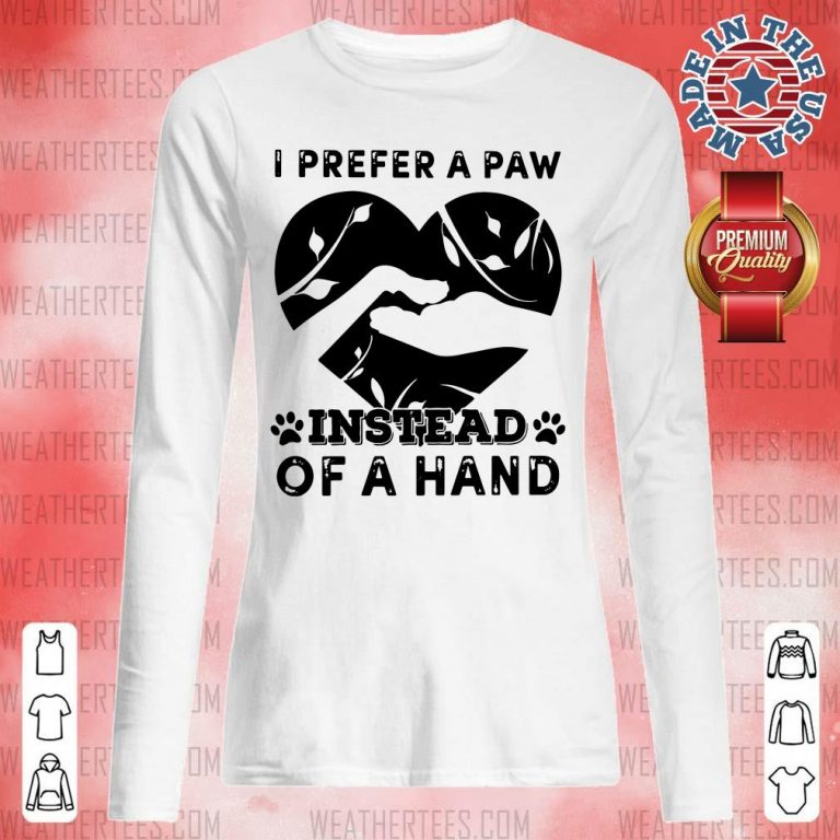 Cute 9 Paw Of A Hand Long-sleveed - Design by Weathertee.com