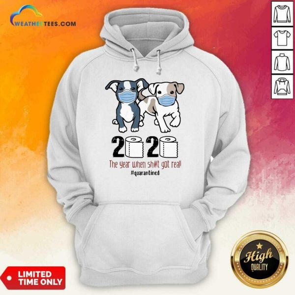 Dogs Mask 2020 When Got Real Quarantined COVID-19 Hoodie