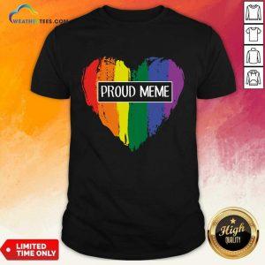 Ecstatic MeMe Rainbow Heart 022 Shirt