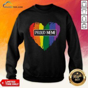 Ecstatic MeMe Rainbow Heart 022 Sweatshirt