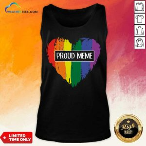 Ecstatic MeMe Rainbow Heart 022 Tank Top