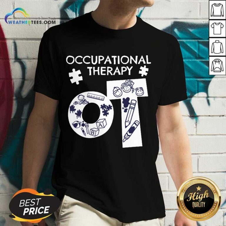 Enthusiastic Occupational Therapy 5 V-neck