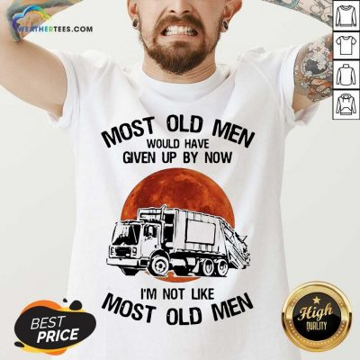 Enthusiastic Old Men Waste Collector Moon 3 V-neck