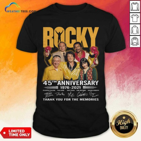 Enthusiastic Rocky 45th Anniversary Shirt