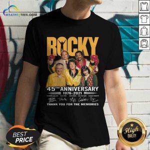 Enthusiastic Rocky 45th Anniversary V-neck