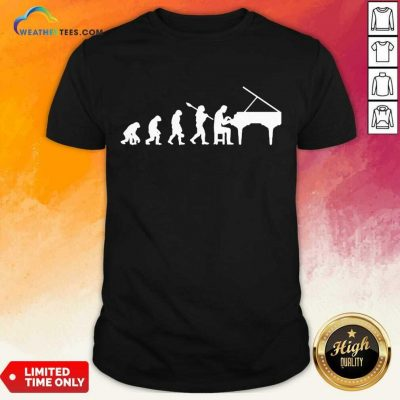 Excited Evolution Pianist Musician 2 Shirt