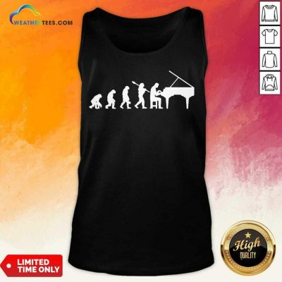 Excited Evolution Pianist Musician 2 Tank Top