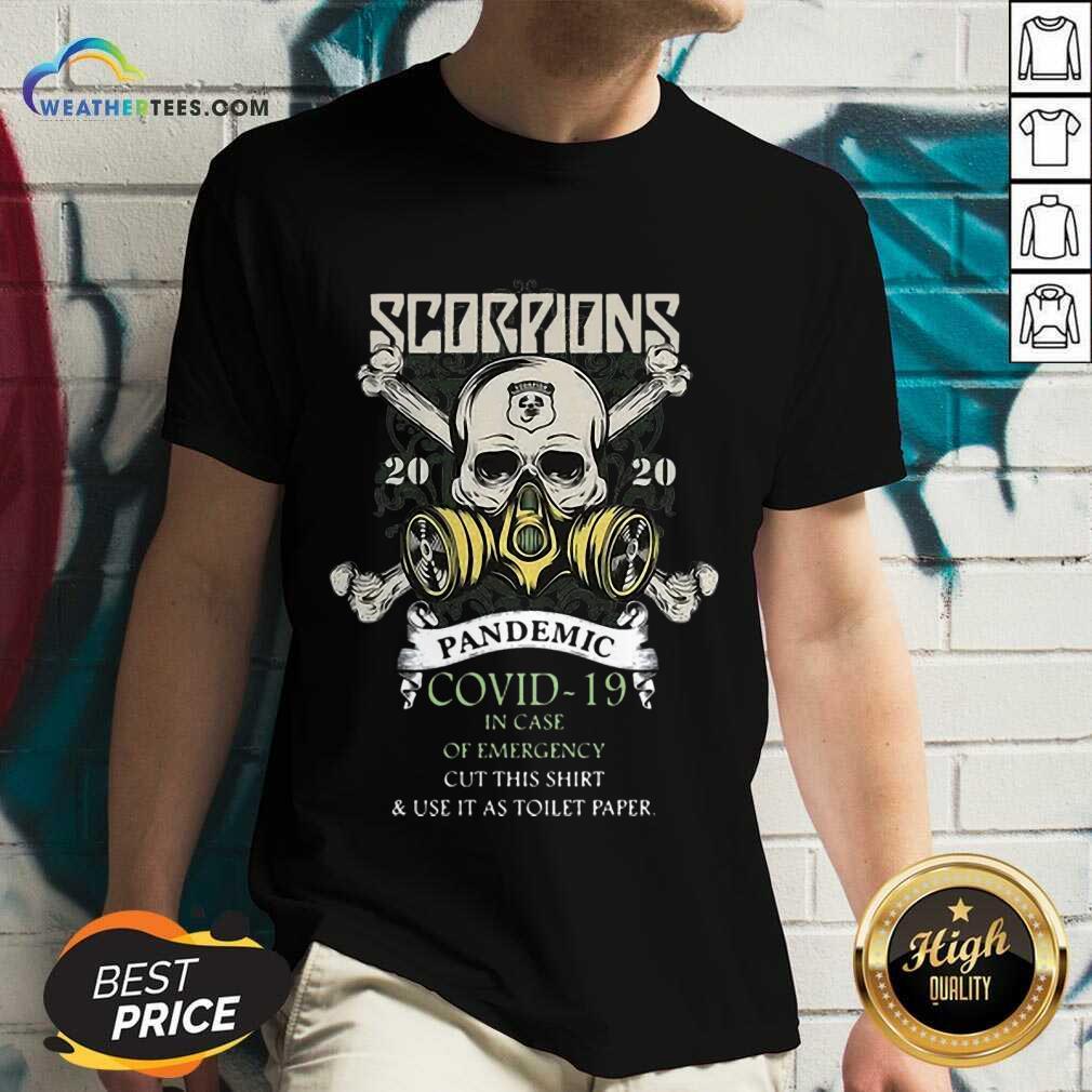 Funny Scorpions 2020 Pandemic Covid 19 Emergency V-neck
