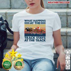 Good Happens At 5 Track Stays Ladies-tee - Design by Weathertee.com