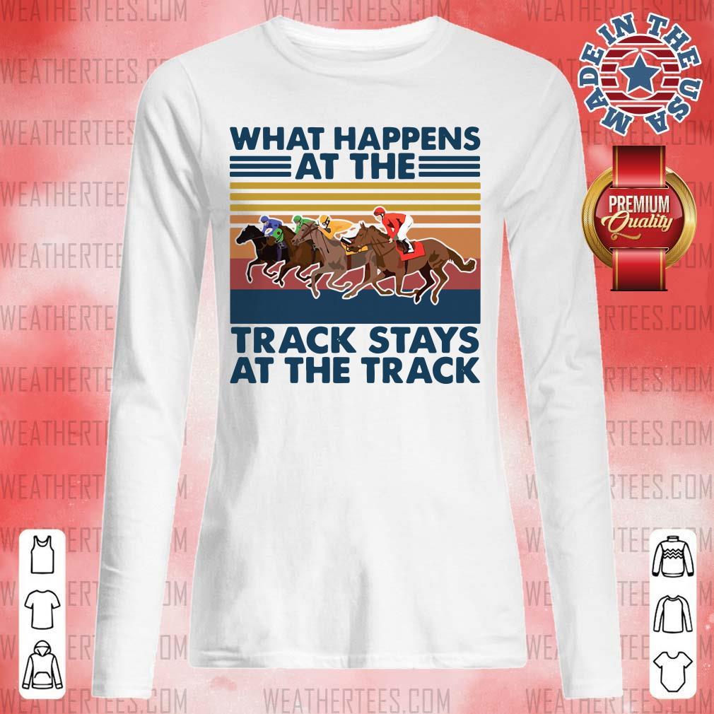 Good Happens At 5 Track Stays Long-sleveed - Design by Weathertee.com