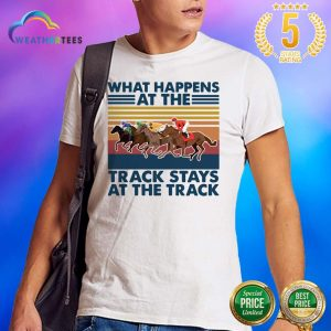 Good Happens At 5 Track Stays Shirt - Design by Weathertee.com