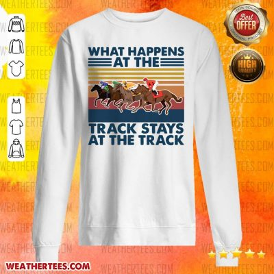 Good Happens At 5 Track Stays Sweater - Design by Weathertee.com