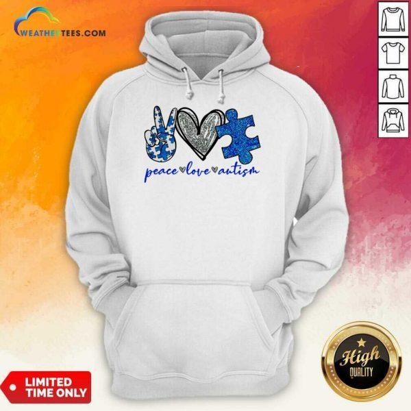 Great Diamond Peace Love Autism 5 Hoodie
