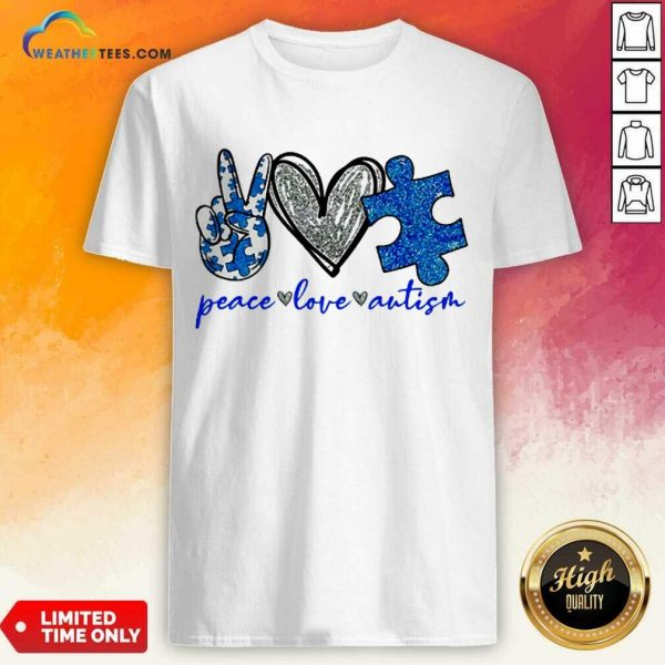 Great Diamond Peace Love Autism 5 Shirt