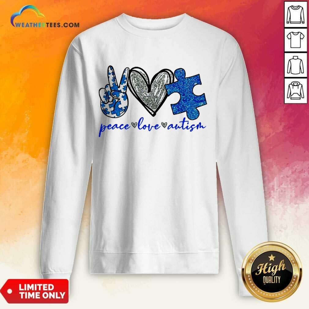 Great Diamond Peace Love Autism 5 Sweatshirt