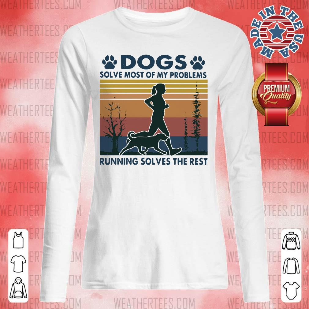 Great Dogs Solve Problems 3 Long-sleeved - Design by Weathertee.com