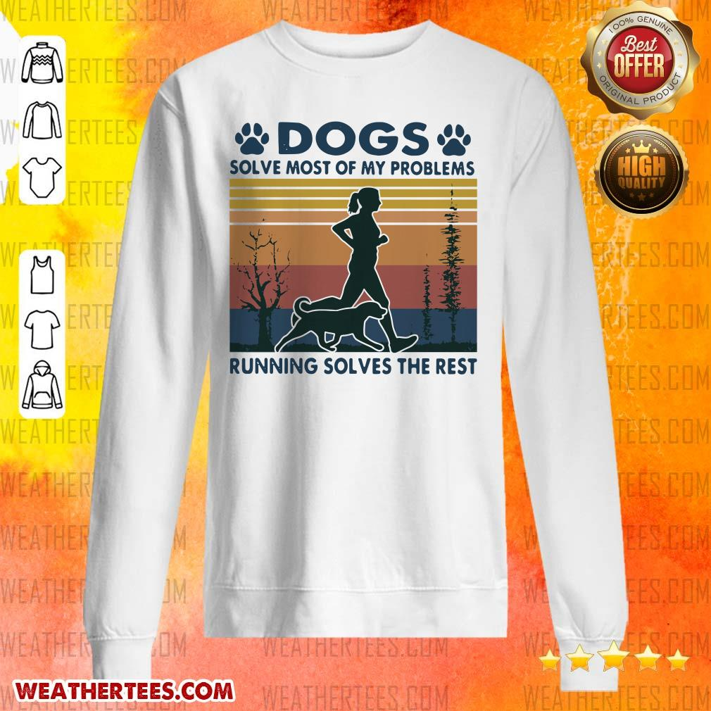 Great Dogs Solve Problems 3 Sweater - Design by Weathertee.com