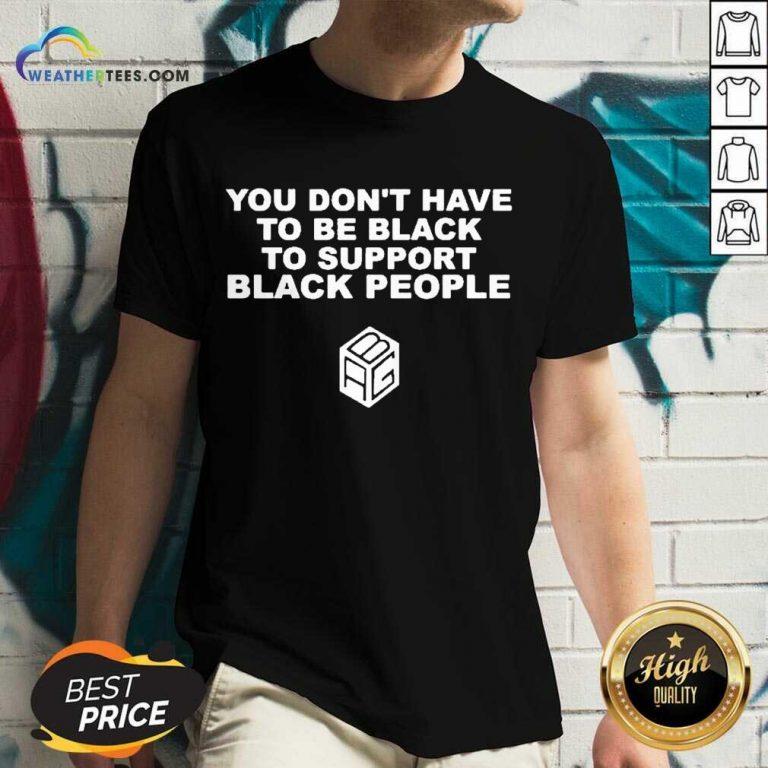 Great Support Black People 11 V-neck