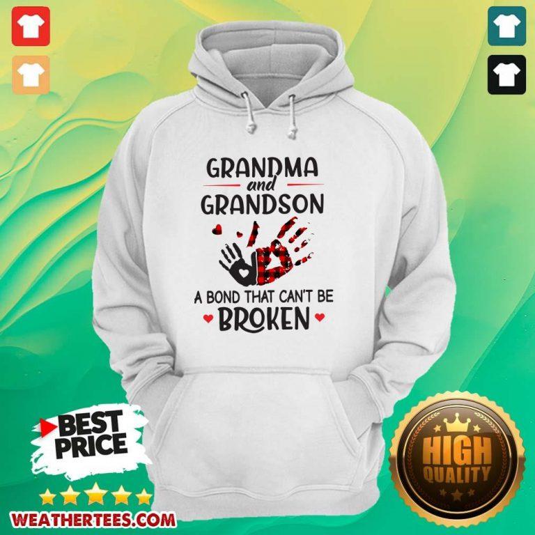 Happy Grandma 14 Grandson Bond Hoodie - Design by Weathertee.com